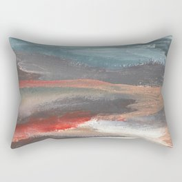 Serenity [2]: an acrylic piece in both warm and cool colors by Alyssa Hamilton Art Rectangular Pillow
