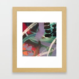 Mark Making in Acrylic Paints - First in Series Framed Art Print