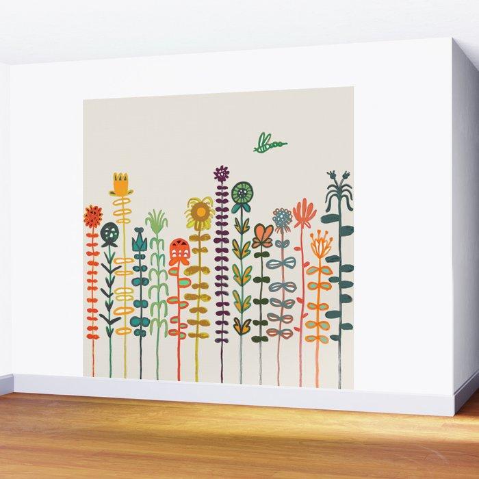 Happy garden Wall Mural