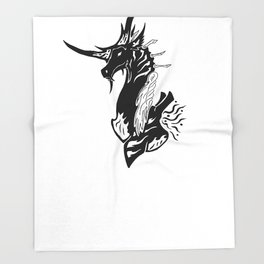 Atex the Dragon of Shadows Throw Blanket