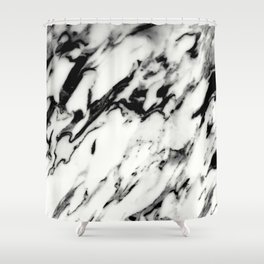 Classic White Marble Glam #1 #marble #decor #art #society6 Shower Curtain