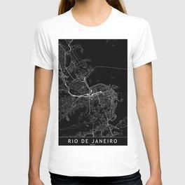 Rio De Janeiro Black Map T-shirt