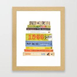 Reading Pile Framed Art Print