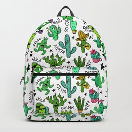 Funny Cactus Pattern Backpack