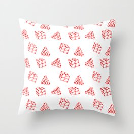the pyramid and the cube . just elementary . Throw Pillow