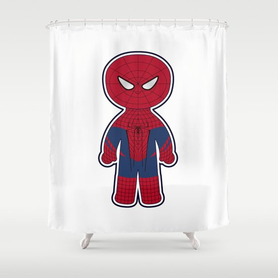 Chibi Spider-man Shower Curtain