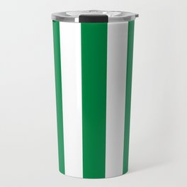 Philippine green -  solid color - white vertical lines pattern Travel Mug