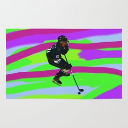 Taking Control- Ice Hockey Player & Puck Rug