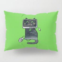Programmer cat  makes a website Pillow Sham