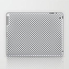 Sharkskin and White Polka Dots Laptop & iPad Skin