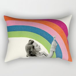 Paint a Rainbow Rectangular Pillow