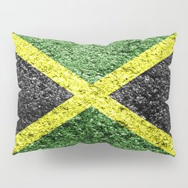 Jamaica Flag Distressed Pillow Sham