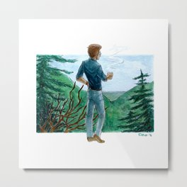 looking over the mountains Metal Print