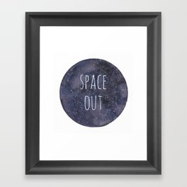 Space Out Framed Art Print