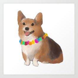 a festive boy Art Print