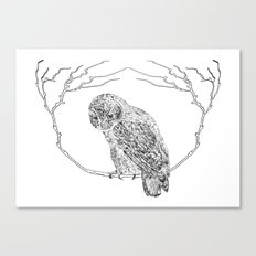 Owl In Tree (Print) Canvas Print