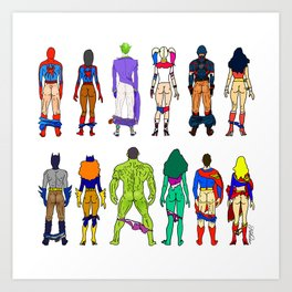 Superhero Butts - Power Couple Kunstdrucke