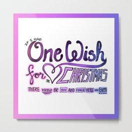 One Wish Metal Print