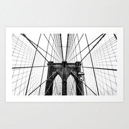Brooklyn Bridge Web Art Print