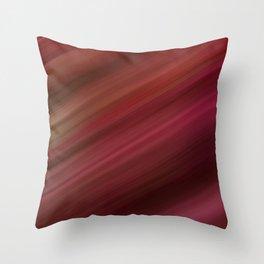 Fresh Rhubarb Stripes Throw Pillow