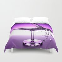 martini Duvet Covers featuring Martini by Littlebell