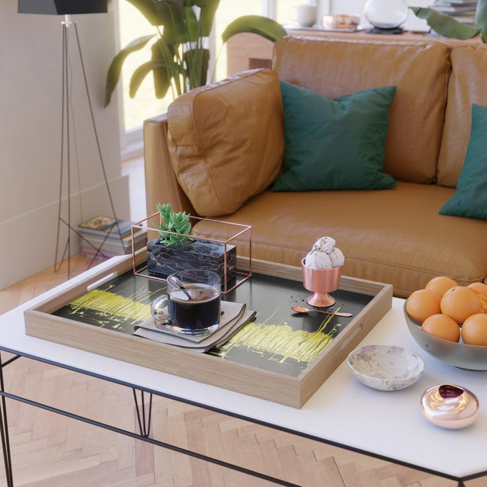 Yellow Forest Serving Tray