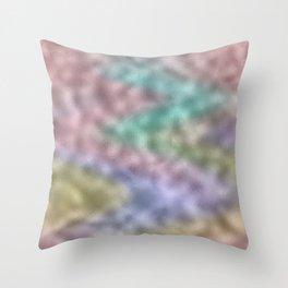 Mottled Rainbow Iridescent Foil Throw Pillow