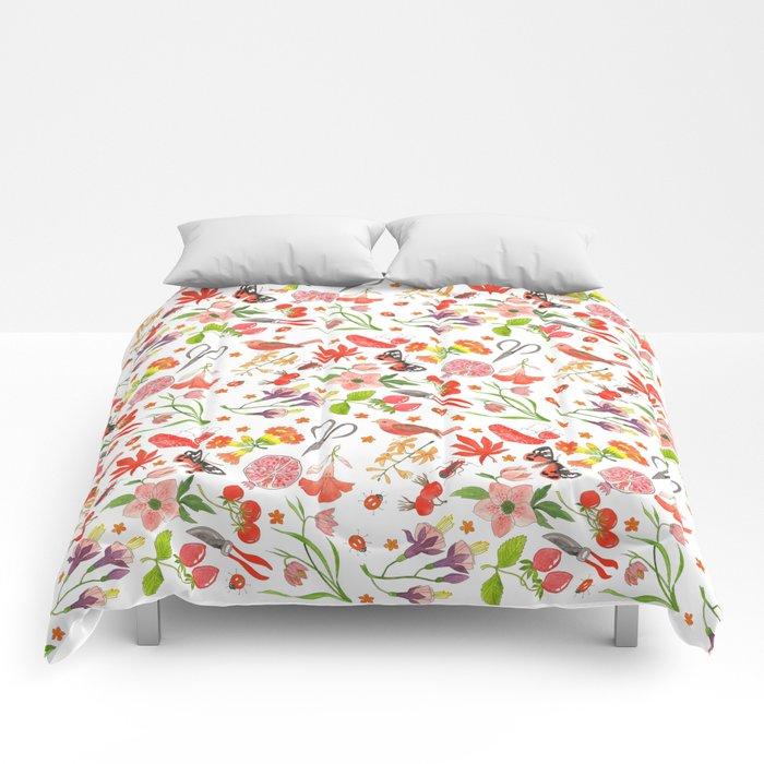 Red Repeat Gardening Comforters