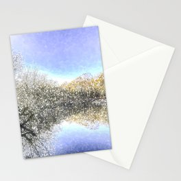 The Winters Day Pond Stationery Cards