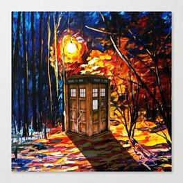 Tardis Alone Canvas Print