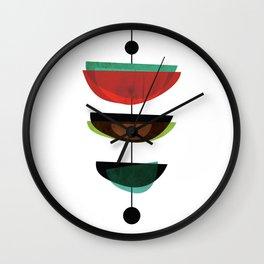 Modern Mid Century Art 3 Wall Clock
