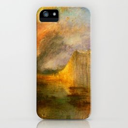 The Burning of the Houses of Lords and Commons - Joseph Mallord William Turner iPhone Case