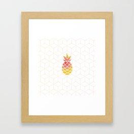 Pineapple Geometric Art Framed Art Print