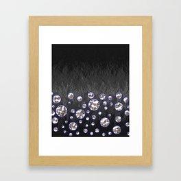 Asteroid Belt of Silver Moons Framed Art Print