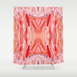 Vintage Rose Woven Abstract Shower Curtain