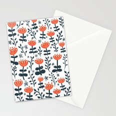 Red Blooms Stationery Cards