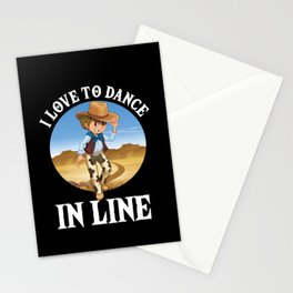 I Love To Dance In Line Country Rodeo Music Gift Stationery Cards