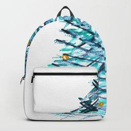 Modern Linear Christmas Tree  Backpack