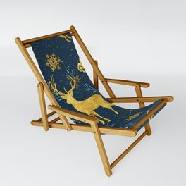 Golden Reindeer Sling Chair