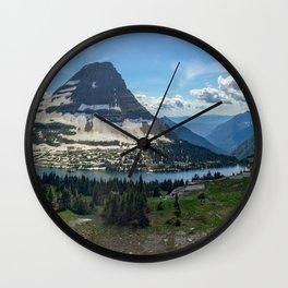 Hidden Lake at Logan Pass Wall Clock
