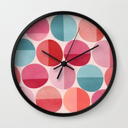 Round and Round / Retro Palette Wall Clock