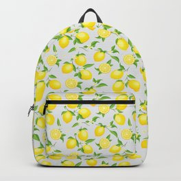 You're the Zest - Lemons on White Backpack