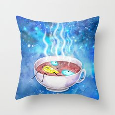 tea and the universe Throw Pillow