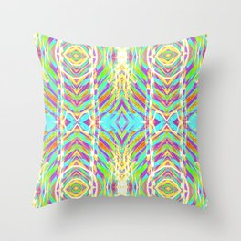 Light Dance Ripple edit Throw Pillow