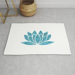 Aqua Lotus Rug