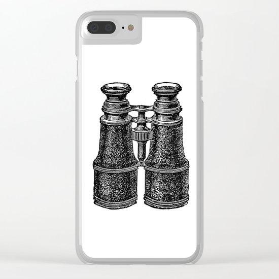Binoculars 2 Clear iPhone Case