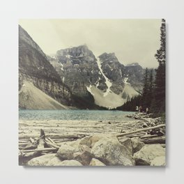 Moraine Lake Adventure Metal Print