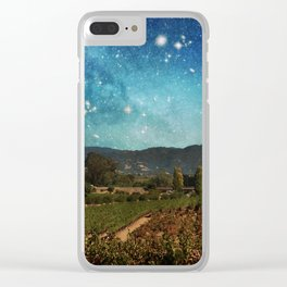 Starlit Vineyard II Clear iPhone Case