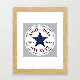 Avid All Star Framed Art Print