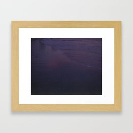 Late afternoon at the beach Framed Art Print